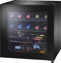 Insignia™ – 16-Bottle Wine Cooler with Wine Tote – Black