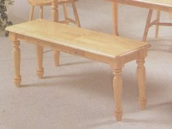 Country Style Dining Chair House Bench w/ Decorative Turned Legs Natural