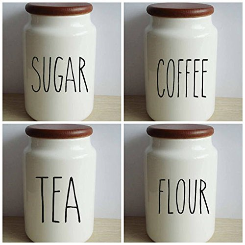 Rae Dunn Inspired Set Vinyl Decal Sticker Kitchen Canister