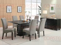 Coaster Home Furnishings  Stanton Modern Contemporary Wave Design Rectangular Dining Table &#821 ...