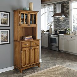 Home Styles 5001-0066-62 5001 Series Cottage Oak Wood Top Buffet Server and Hutch, Cottage Oak,  ...