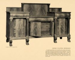 1911 Print Empire Colonial Sideboard Claw Furniture – Original Halftone Print