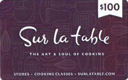Sur La Table Gift Card $100