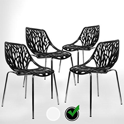 Modern Contemporary Urban Design Kitchen Dining Side Chair: UrbanMod BLACK Modern Dining Chair