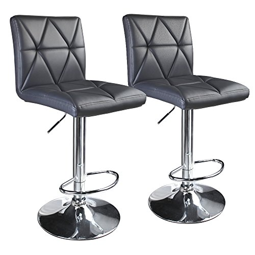 Leader Accessories Modern Swivel Grey Bar Stool Diagonal