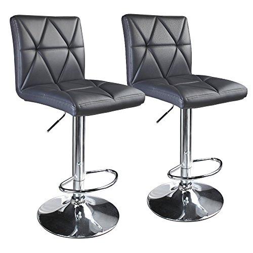 Leader Accessories Modern Swivel Grey Bar Stool Diagonal