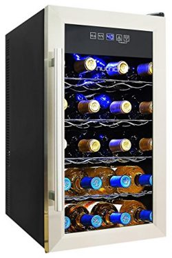 NutriChef 18 Bottle Thermoelectric Wine Cooler / Chiller | Counter Top Red And White Wine Cellar ...