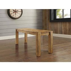 Bryant Dining Bench, Rustic Brown (sitting)Dimensions: 47.75″W x 14″D x 18″H ( ...