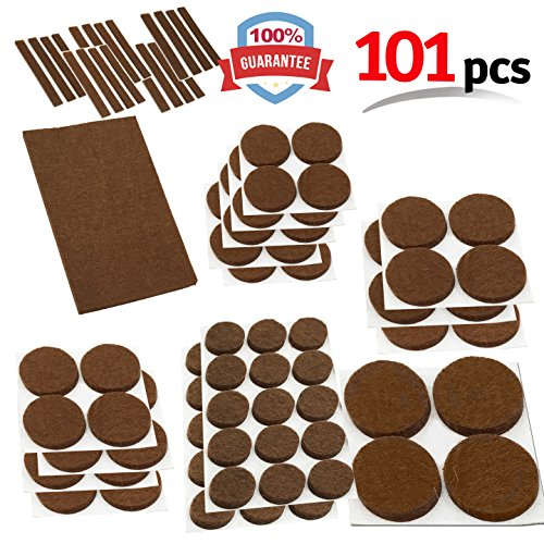 Mighty X Heavy Duty Felt Furniture Pad Protectors By IPrimio U2013 Pack 101  Pcs, Place