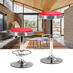 LCH Swivel Bar Stool adjustable Height – 24 to 31 inch,300lbs Capacity, Hydraulic Lift, Ex ...