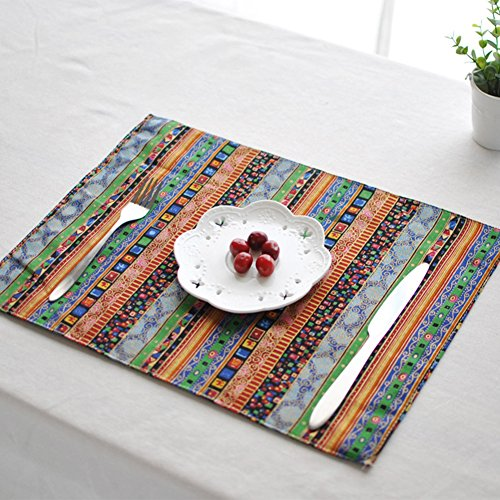 aothpher washable square place mats dining table mats everyday use placemats for kitchen table. Black Bedroom Furniture Sets. Home Design Ideas