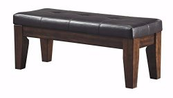 Ashley Furniture Signature Design – Larchmont Large Dining Room Bench – Upholstered  ...