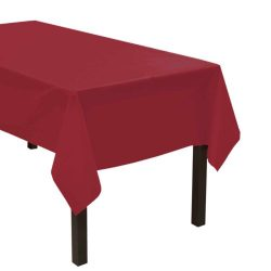 Party Essentials Heavy Duty Plastic Table Cover Available in 44 Colors, 54″ x 108″,  ...