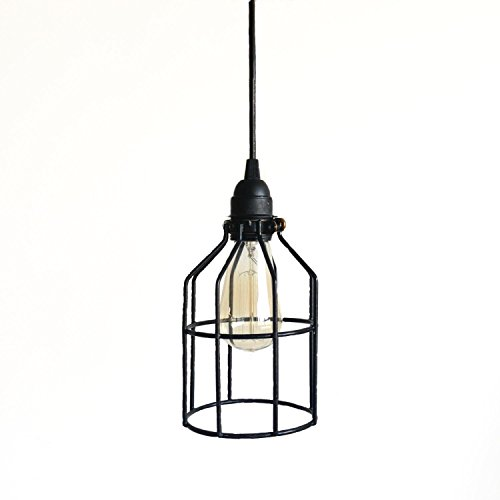 Black Cage Pendant Industrial Lighting