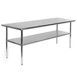 Gridmann NSF Stainless Steel Commercial Kitchen Prep & Work Table – 72 in. x 30 in.