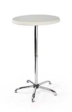 Displays2go 47-Inch Tall Round Pub Table with Plastic Top (FOLDR2646)