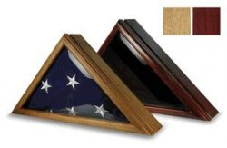 Online Stores Officers Flag and Display Case, 5 by 9.5-Feet, Oak