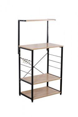 Uniware Professional Wooden Kitchen Shelf/Baker Rack 4 Tier Shelves (23.62″L x 15.75&#8243 ...