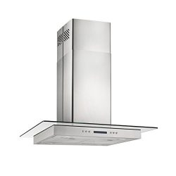 Glass Stainless Steel 36″ Stove Vent Panel Kitchen Island Mount Range Hood DPL-00105B90-DK13