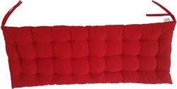 Melange 100% Cotton 44″ x 17″ Bench Cushion, Red