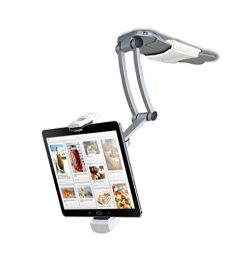 2-in-1 Kitchen Mount Stand for 7-13 Inch Tablets/iPad (2017)/iPad Pro 9.7, 10.5, 12.9/Surface Pr ...