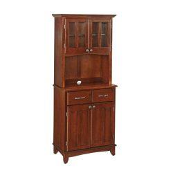 Home Styles 5001-0072-72 Buffet of Buffet 5001 Series Medium Cherry Wood Top Buffet Server and H ...
