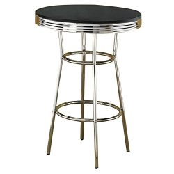 Coaster Home Furnishings 2405 Contemporary Bar Table, Silver