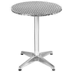 23 1/2″ Aluminum Stainless Steel Round Table Patio Bar Pub Restaurant