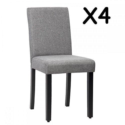 Dining chair elegant design modern fabric upholstered for Elegant upholstered dining chairs
