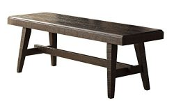 Homelegance Fenwick 60″ Rustic Dining Bench, Gray