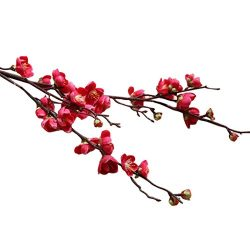 Artificial Flowers Clearance, Paymenow Fake Flowers Plum Blossom Floral Bouquet Home Garden Offi ...