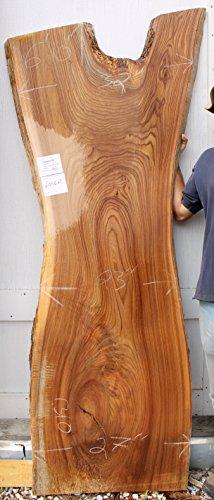 English Elm Wood Slab Counter Kitchen Island Top Natural Live Edge Headboard Rustic Sideboard Cu ...