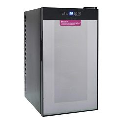 Nutrichef 18 Bottle Thermoelectric Wine Cooler Refrigerator | Red, White, Champagne Chiller | Co ...