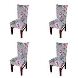 My Decor Super Fit Stretch Removable Washable Short Dining Chair Protect Cover Slipcover Style 0 ...