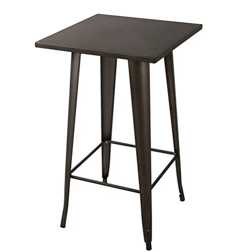 23 6 Quot Square 41 3 Quot Height Metal Bar Table Bistro Cafe Pub