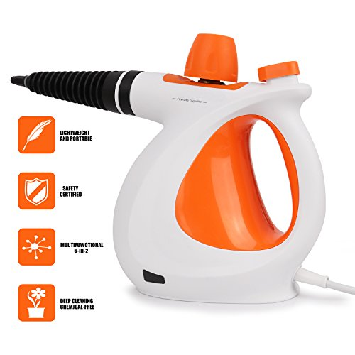 Handheld Pressurized Steam Cleaner With 9-Piece Accessory