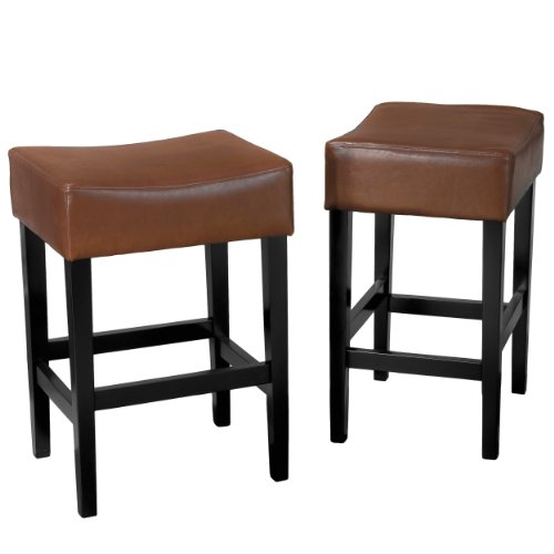 duff backless leather counter stools counter stool hazelnut diningbee diningbee. Black Bedroom Furniture Sets. Home Design Ideas