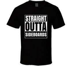 Straight Outta Sideboards Nouns Compton Parody T Shirt XL Black