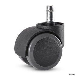 Rolland Office Chair Caster Wheel for Hardwood Floor – Stem Diameter: 11mm, Stem Length: 2 ...