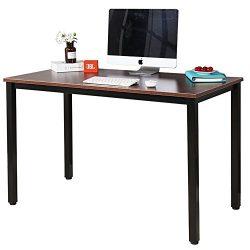Dland Luxurious Computer Desk 47″ Large Size Home Office Decent PC Laptop Desk Studying Wr ...