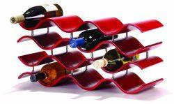 Oenophilia Bali Wine Rack, Crimson -12 Bottle
