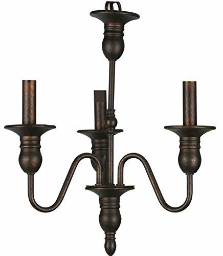HOMEnhancements Chandelier 3-Light Oil Rubbed Bronze For