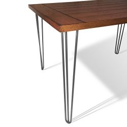 The Craftsman's Hammer 28″ Hairpin Table Legs (Raw Steel), 3 rod, 1/2″ Thick C ...
