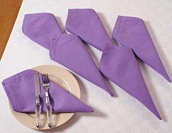 Solid Color Cotton Dinner Napkins – 20″ x 20″ – Set of 6 Premium Table L ...