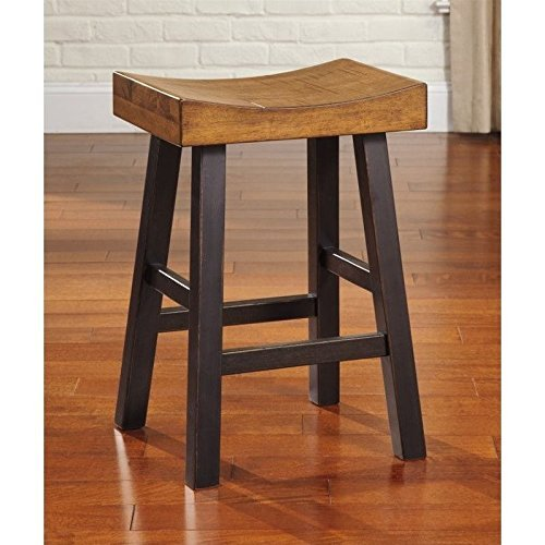 Counter Stool In Two Tone Finish Set Of 2 By Ashley