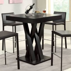 Modern Millennium Park 36″ Pub Table ( 4 Person / Stools are sold separately) Made w MDF/  ...