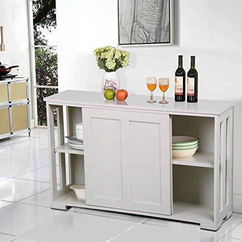 Dining Room Storage Furniture: Yaheetech Antique White Sliding Door Buffet Sideboard
