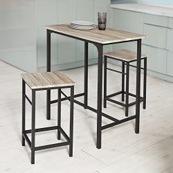 Haotian Sling High Bistro Set ,Home Kitchen Outdoor Garden Bar Set,Patio Furniture, Dining Set ( ...