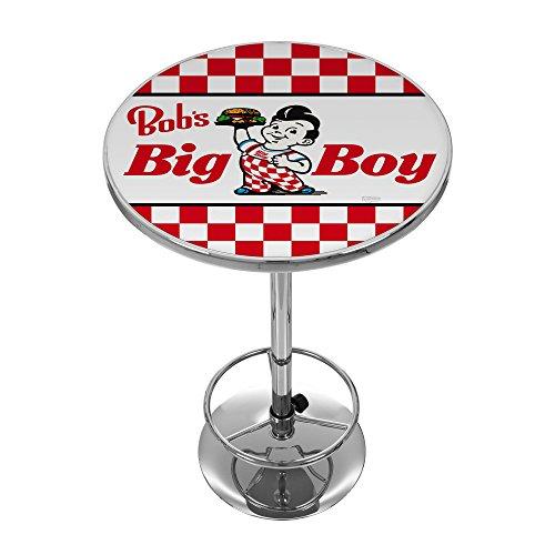 Bobs Big Burger Checkered Chrome Pub Table Diningbee