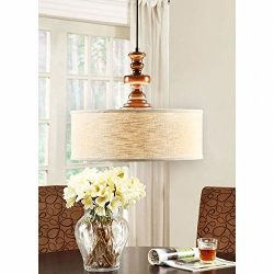 Modern Farmhouse Chandelier for Dining Rooms, Kitchens and Breakfast Nooks | Drum Light Fixture  ...